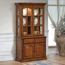 "Farmhouse Hutch Dark Oak 73""h"