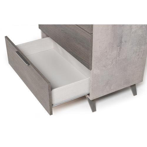 Nova Domus Bronx Italian Modern Faux Concrete & Grey Chest