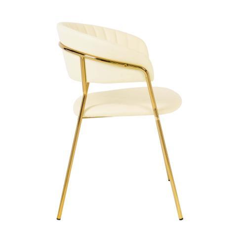 Tov Furniture - Padma Cream Vegan Leather Chair (Set of 2)
