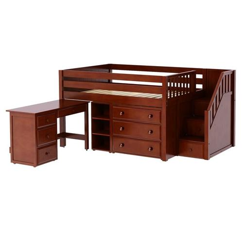 Perfect2lorrcp In By Maxtrix In Oklahoma City Ok Low Loft Bed With Staircase Desk 3 Drawer Narrow Bookcase Full Chestnut Panel