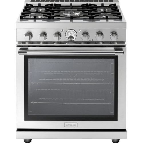 """Range LA CUCINA 30"""" Panorama Stainless steel 5 gas, gas oven"""