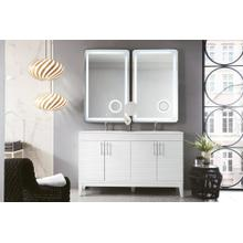 "Lineage 59"" Double Bathroom Vanity, Glossy White"