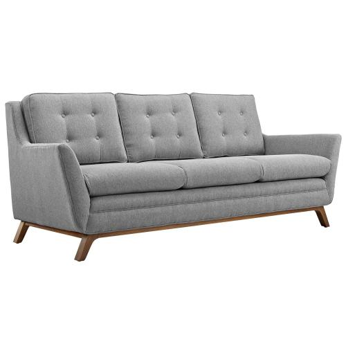 Beguile Upholstered Fabric Sofa in Expectation Gray
