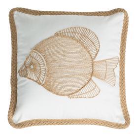 Nilam Fish Pillow - Natural