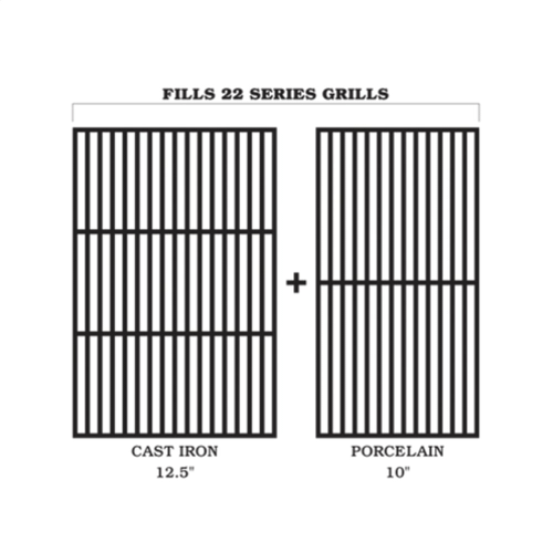 Traeger Cast Iron/Porcelain Grill Grate Kit for Pro 22 Grills