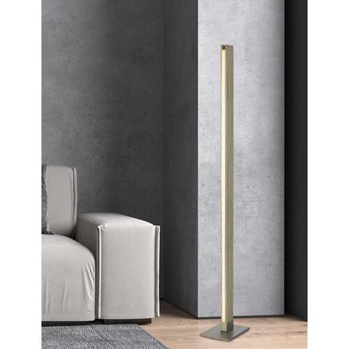 Cal Lighting & Accessories - Colmar integrated LED Rubber wood floor lamp with dimmer control. 24W, 2100 lumen, 3000K.