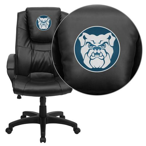 Butler University Bulldogs Embroidered Black Leather Executive Office Chair