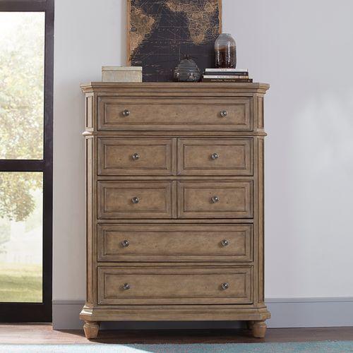 Liberty Furniture Industries - Opt Queen Panel Bed, Dresser & Mirror, Chest