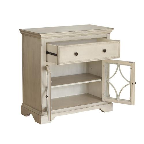 Two Door, One Drawer Console in Cream
