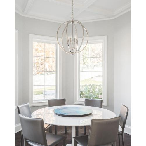 Corinne Large Pendant Polished Nickel