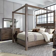 View Product - King Canopy Bed, Dresser & Mirror