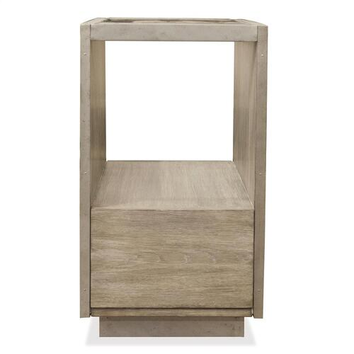 Riverside - Sophie - Chairside Table - Natural Finish