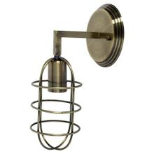 Hines II 6x14 Bronze Toned Metal Bulb Cage Wall Sconce