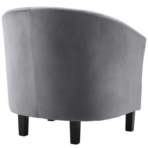 Modway - Prospect Channel Tufted Performance Velvet Armchair in Gray