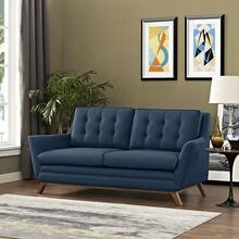 See Details - Beguile Upholstered Fabric Loveseat in Azure