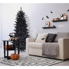 Haunted Hill Farm 6.5 Ft. Spooky Black PVC Tree, No Lights, HH065PVCTREE-0BLK