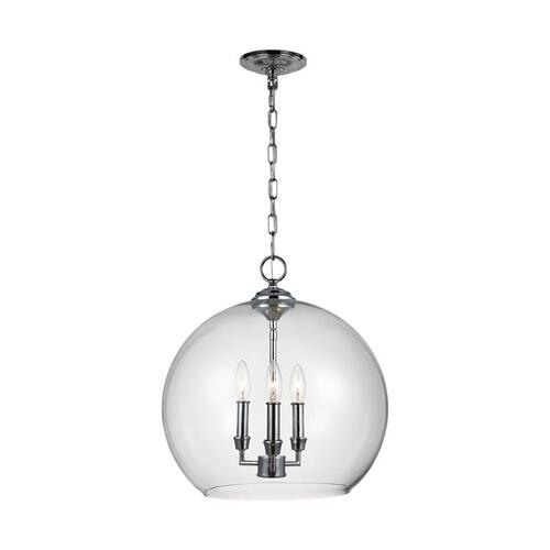 Lawler Orb Pendant Satin Nickel
