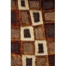 Designer Shag S.V.D. 45 Area Rug by Rug Factory Plus - 2' x 3' / Brown