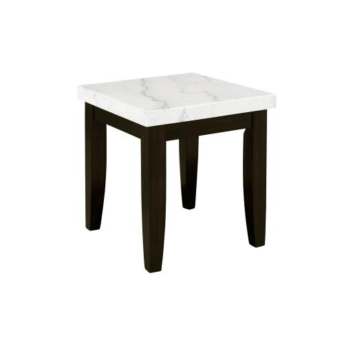 Francis White Marble Top EndTable , 55mmThick