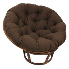 Bali 42-inch Indoor Fabric Rattan Papasan Chair - Walnut/Chocolate