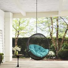 Hide Outdoor Patio Swing Chair Without Stand in Gray Turquoise