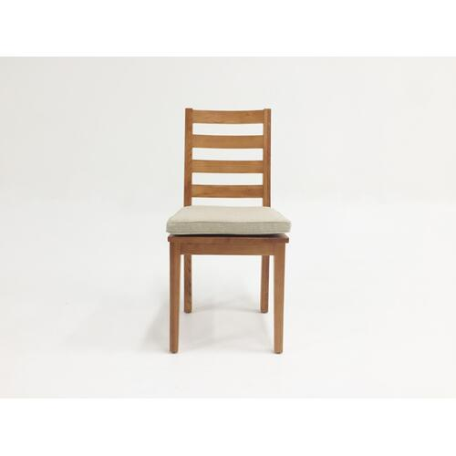 Modrest Lance Modern Ash Wood Dining Chair w/ Cushion (Set of 2)