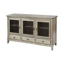 Walsh 3-door 3-drawer Cabinet In Antique Silver Leaf