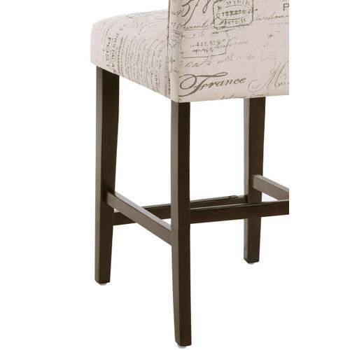 """Product Image - Upholstered Square Back 24"""" Counter Stool in Paris Script"""