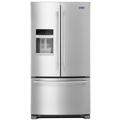 36-Inch Wide French Door Refrigerator with PowerCold® Feature - 25 Cu. Ft.