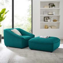 Comprise 2-Piece Living Room Set in Teal