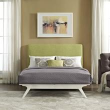 Tracy Queen Bed in White Green