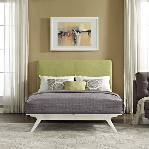 Modway - Tracy Queen Bed in White Green