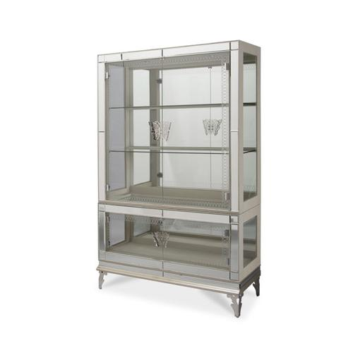 Curio with Glass Doors (2 pc)