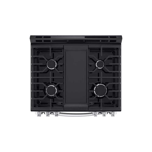 LG - 5.8 cu ft. Smart Wi-Fi Enabled Fan Convection Gas Slide-in Range with Air Fry & EasyClean®