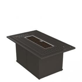 """Spectrum 53"""" x 32"""" Rectangular Fire Pit, Built-In Ignitor"""