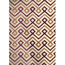 "Durable Hand Tufted Transition TF31 Area Rug by Rug Factory Plus - 7'6"" x 10'3"" / Brown"