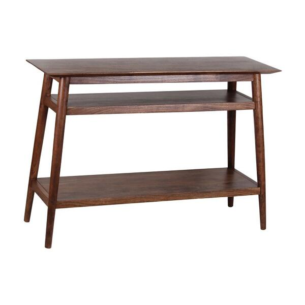 COMING SOON, PRE-ORDER NOW! Portola Walnut Console Table with Shelf, 2005-002WW