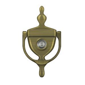 Deltana - Door Knocker-Viewer - Antique Brass