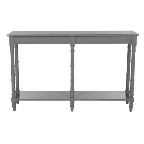 Safavieh - Noam Modern Coastal Bamboo Console Table - Grey