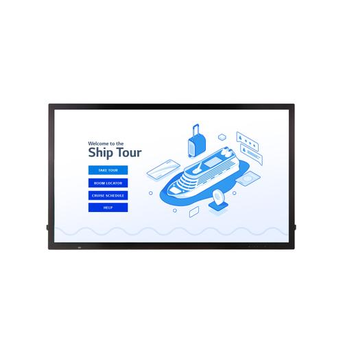 "55"" IPS UHD Multi Touch Screen Digital Display for Cruise Ships with webOS 4.1 Smart Signage Platform, Anti-shatter Glass, Conformal Coating & Embedded Group Manager"