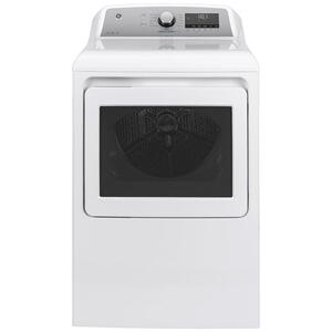 GE® 7.4 cu. ft. Capacity Smart aluminized alloy drum Electric Dryer with Sanitize Cycle and HE Sensor Dry Product Image