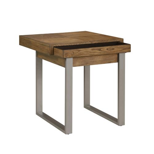 Emerald Home Furnishings - Emerald Home Slider End Table With Storage and Usb Port-t420-01