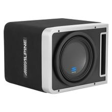 "Single 10"" Alpine Halo S-Series Preloaded Subwoofer Enclosure with ProLink """