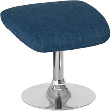Egg Series Blue Fabric Ottoman