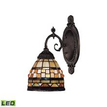 See Details - Mix-N-Match 1-Light Wall Lamp in Tiffany Bronze with Tiffany Style Glass - Includes LED Bulb