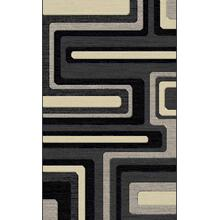 "Durable Flat Weave No Shedding Lifestyle 1000 Area Rug by Rug Factory Plus - 2' x 7'5"" / Gray"