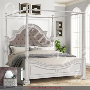 Liberty Furniture Industries - King Canopy Bed, Dresser & Mirror