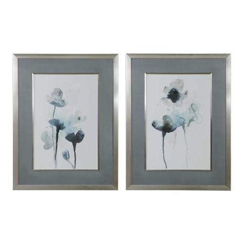Midnight Blossoms Framed Prints, S/2