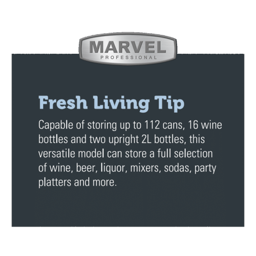 Marvel - 24-In Professional Built-In Dual Zone Wine And Beverage Center with Door Style - Stainless Steel
