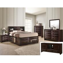 Emily Dresser 8 Drawers Dark Cherry